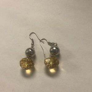 Jewelry - Silver and yellow earrings